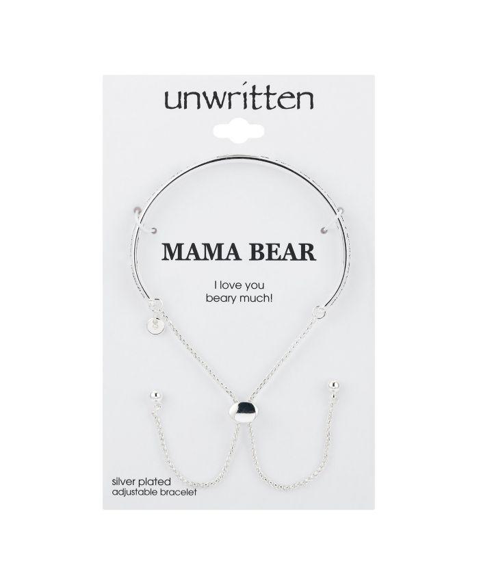 "Unwritten Fine Silver Plated ""Mama Bear"" Cuff Bolo Bracelet & Reviews - Bracelets - Jewelry & Watches - Macy's"