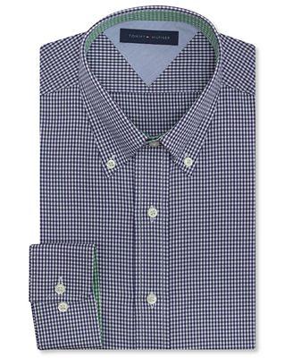 Tommy hilfiger big and tall blue gingham dress shirt for Tommy hilfiger gingham dress shirt