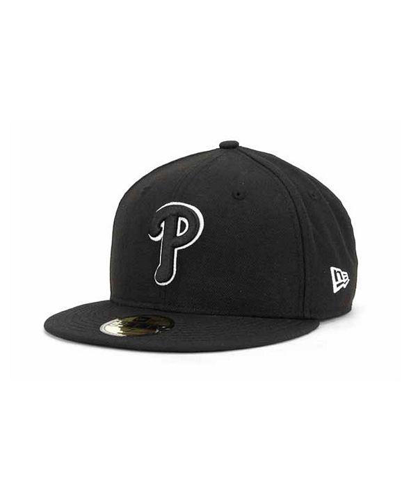 New Era Philadelphia Phillies Black and White Fashion 59FIFTY Cap