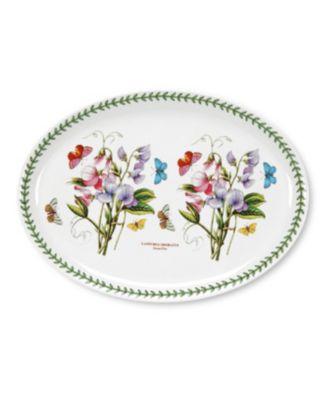 """Portmeirion Dinnerware, Botanic Garden Oval Platter, 14.75"""""""