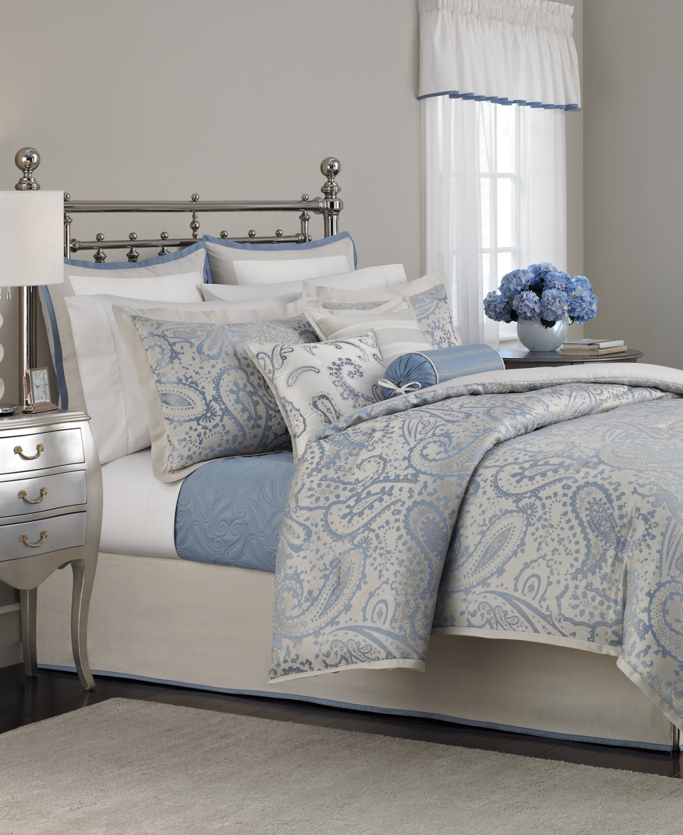 Martha stewart collection gemstone paisley 22 piece comforter sets bed in a bag bed bath on Martha stewart bathroom collection