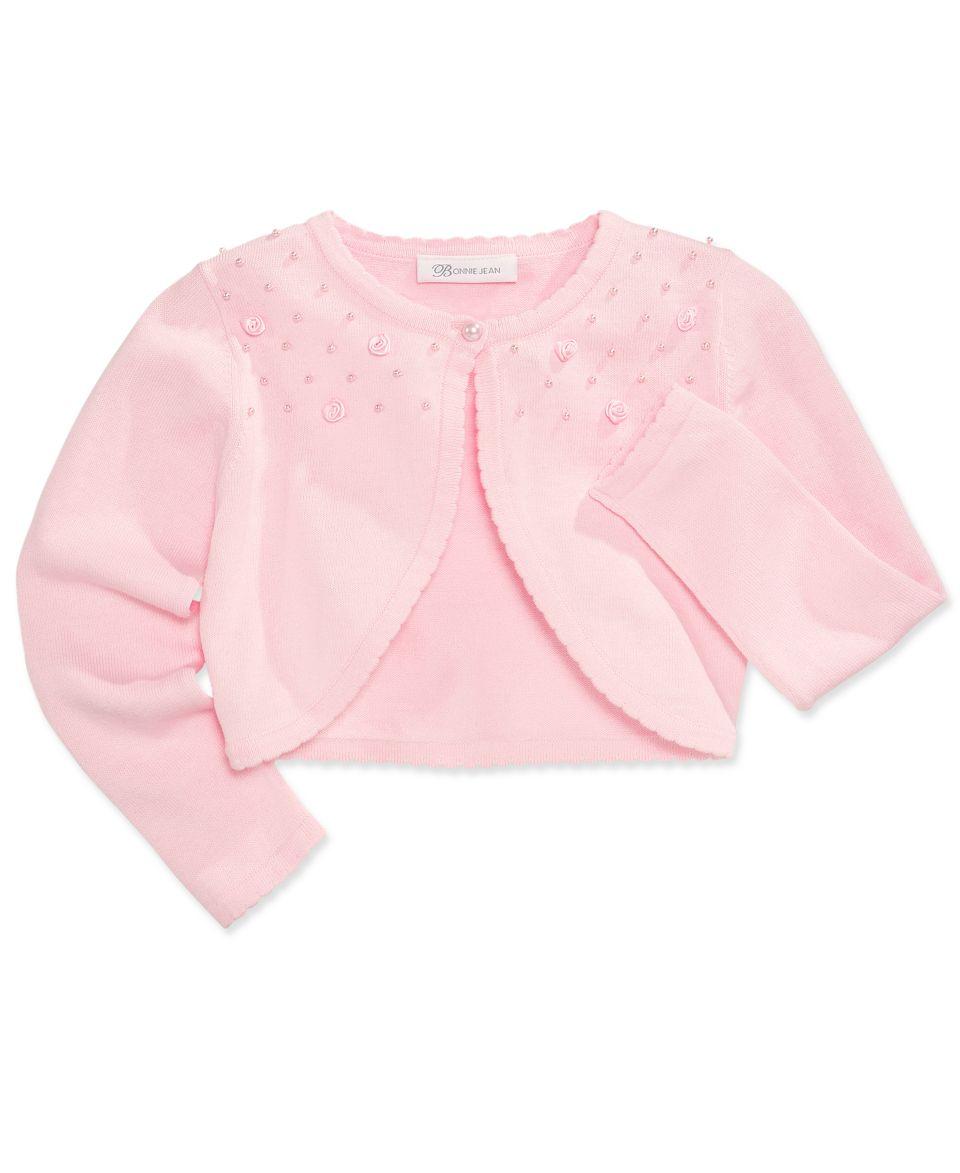 Bonnie Jean Kids Sweater, Little Girls Flower Cardigan   Kids