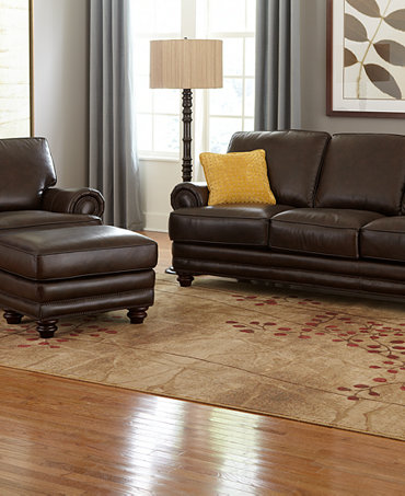 Wyatt Leather Sofa Living Room Collection Furniture Macy 39 S