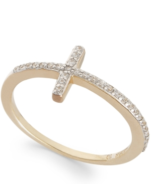 wrapped Diamond Cross Ring in YellOra