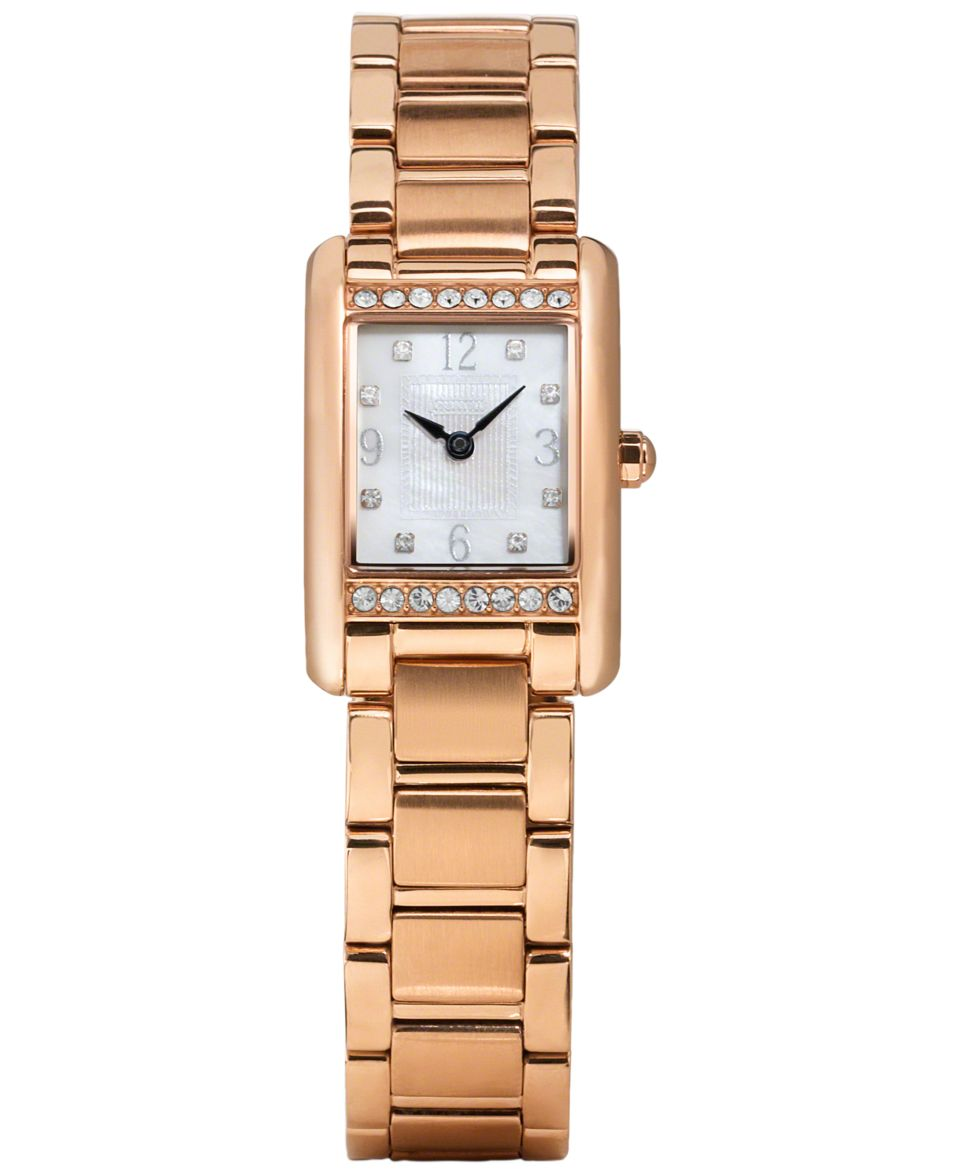 kate spade new york Womens Cobble Rose Gold Tone Pave Pyramid Stud Bangle Bracelet Watch 10mm 1YRU0345   Watches   Jewelry & Watches