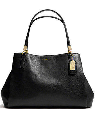 Coach Madison Cafe Carryall In Leather Coach Handbags