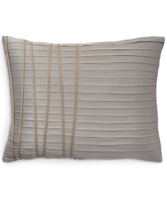 "Donna Karan Home Reflection Silver 16"" x 20"" Decorative Pillow"