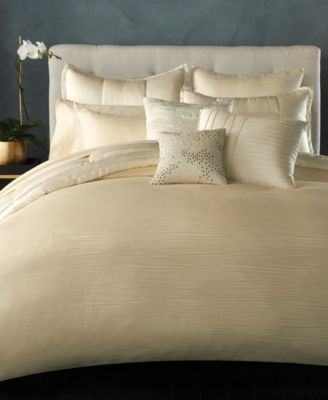 Donna Karan Home Reflection Ivory Full/Queen Duvet Cover
