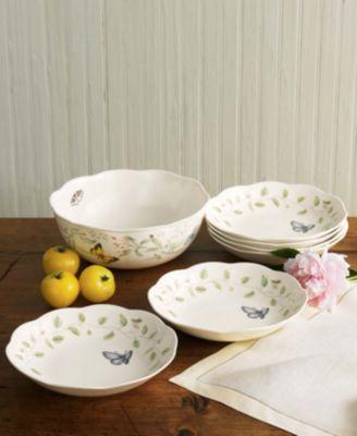 Lenox Dinnerware, Butterfly Meadow 7 Piece Pasta/Salad Set