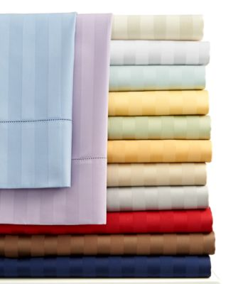 Charter Club Damask Stripe 500 Thread Count Standard Pillowcase Pair