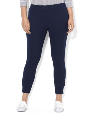 Lauren Ralph Lauren Plus Size Cropped Skinny Stretch Pants