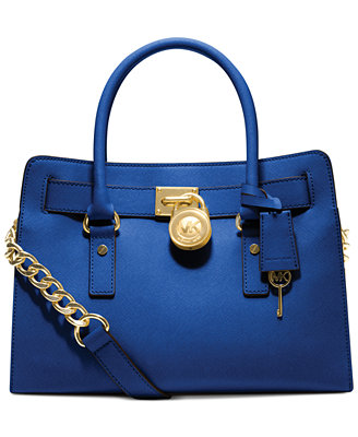 Sale alerts for  MICHAEL Michael Kors Hamilton Saffiano Leather E/W Satchel - Covvet