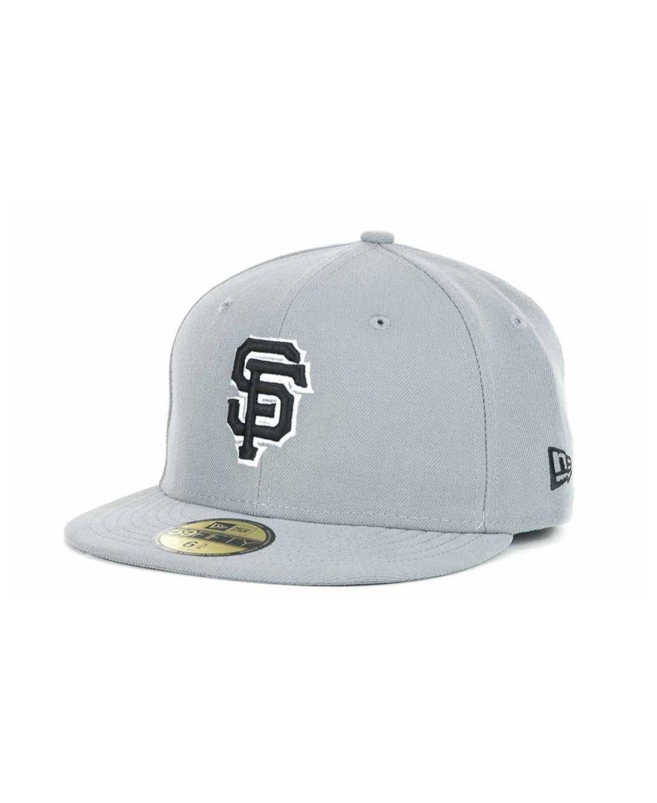 New Era Kids San Francisco Giants MLB Gray Black and White 59FIFTY   Sports Fan Shop By Lids   Men