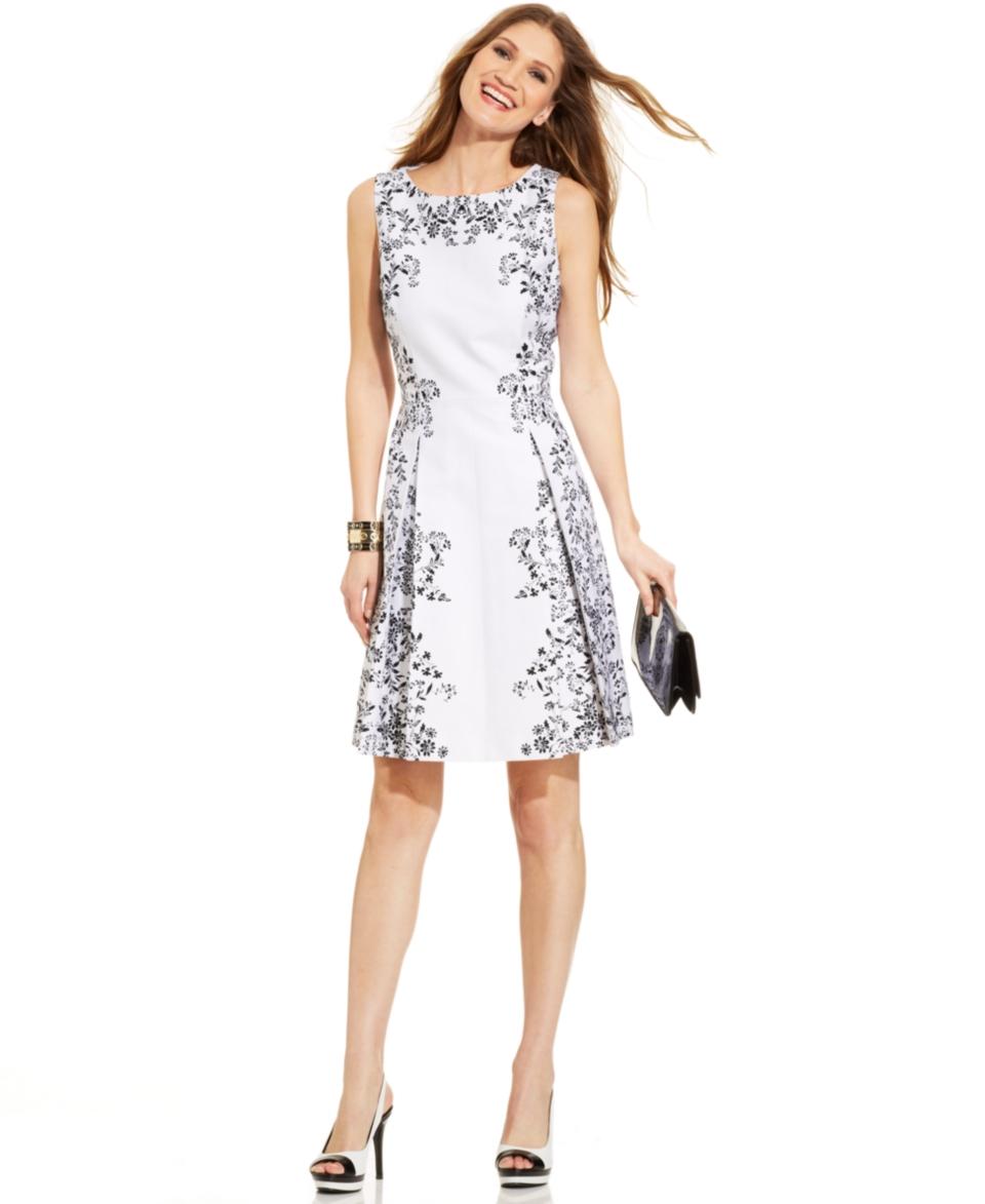 Tahari by ASL Petite Sleeveless Floral Print Dress   Dresses   Women