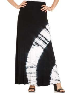 Ing Plus Size Tie-Dye Maxi Skirt