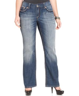 Seven7 Jeans Plus Size Bootcut Jeans, Nirvana Wash