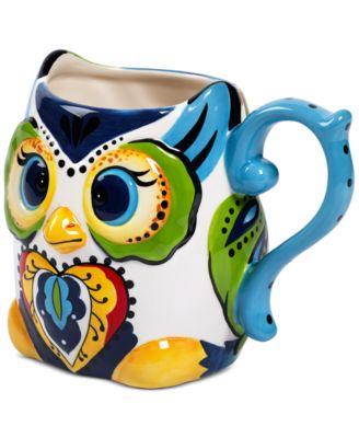 Espana Bocca Figural Owl Mug