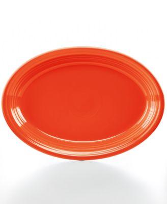 """Fiesta Poppy 13"""" Oval Platter"""