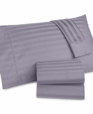Charter Club Damask Stripe 500 Thread Count Queen Extra Deep Pocket Sheet Set Bedding