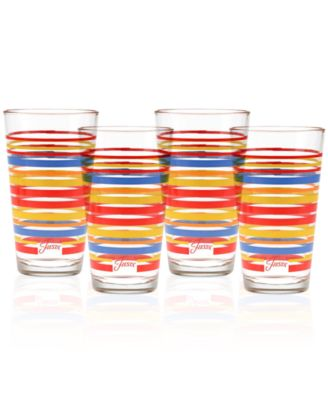 Fiesta Set of 4 Classic Stripe Highball Glasses