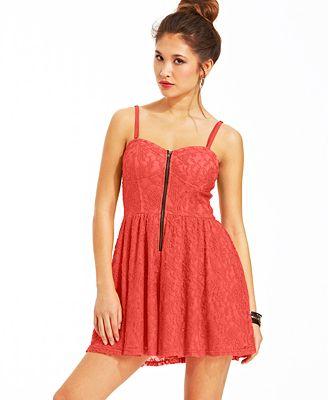 Material Girl Juniorsu0026#39; Lace Romper - Juniors Shorts - Macyu0026#39;s