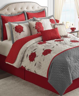 CLOSEOUT! Willow 22 Piece Queen Comforter Set