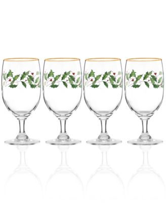 Holiday 4-piece Iced Beverage Glass Set