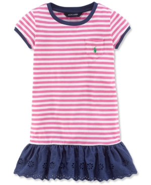 Ralph Lauren - Little Girls' Striped Jersey Dress