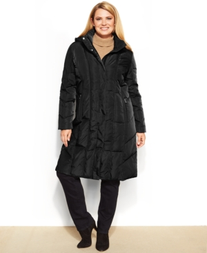 Calvin Klein Plus Size Hooded Quilted Down Puffer Coat