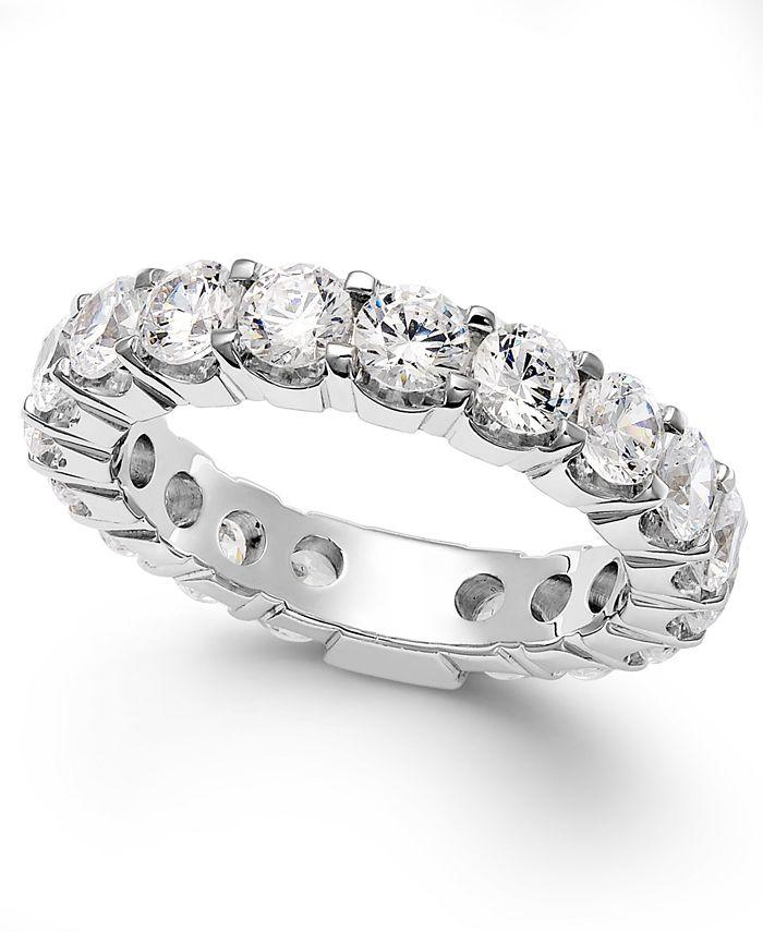 Macy's - Diamond Prong Eternity Ring in 14k White Gold (3 ct. t.w.)