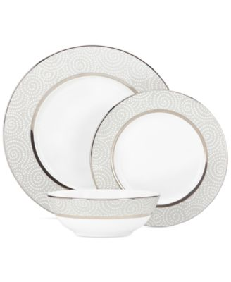 Lenox Pearl Beads 3 Piece Place Setting