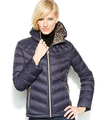 Michael Michael Kors Hooded Quilted Packable Puffer Jacket