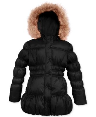 Weatherproof Girls' Hooded Bubble Coat