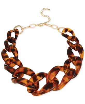 Haskell Gold-Tone Tortoise Link Necklace