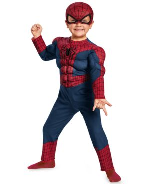 Image of Disguise Little Boys' Spider-Man Muscle Costume