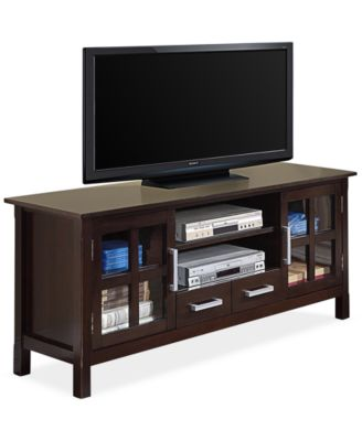 "Rockville 60"" Wide TV Stand, Direct Ship"