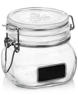 Bormioli Rocco Fido Chalk Label Small Jar, 17.5 oz.