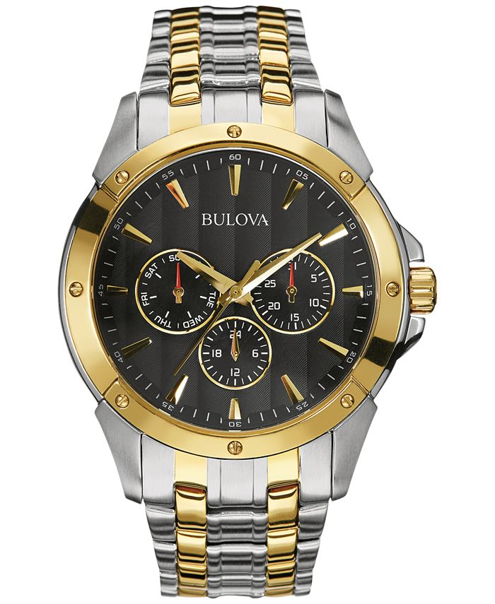 Bulova - Men's Two-Tone Stainless Steel Bracelet Watch 43mm 98C120