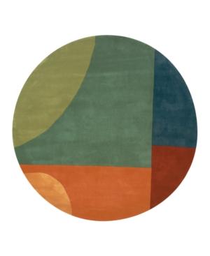 "Momeni ""New Wave Original NW-15 Tibet Multi"" Area Rug, 5' 9"" Round"