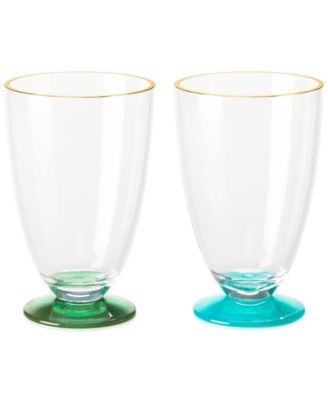 kate spade new york Set of 2 Acrylic Green and Turquoise Tumblers