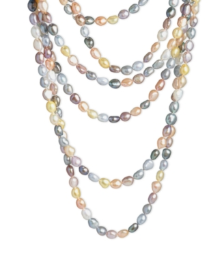 Fresh by Honora Cultured Freshwater Pearl Multicolored Strand