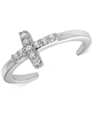 Giani Bernini Cubic Zirconia Cross Toe Ring in Sterling Silver