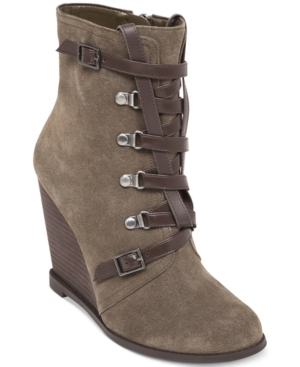 BCBGeneration Kadear Wedge Booties Women's Shoes