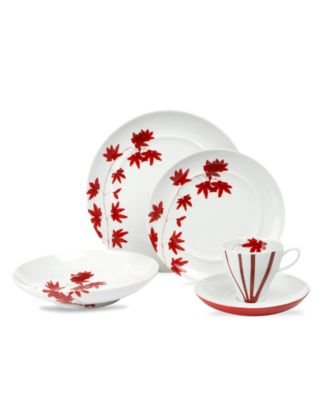Mikasa Dinnerware, Pure Red 5 Piece Place Setting