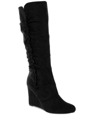 Mia Renee Tall Wedge Boots Womens Shoes