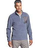 Greg Norman for Tasso Elba 5 Iron Quarter-Zip Fleece Performance Golf Jacket