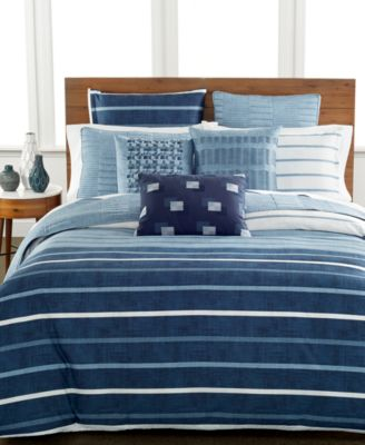 Hotel Collection Colonnade Blue Quilted European Sham