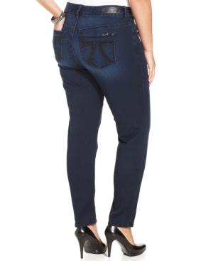 Seven7 Jeans Plus Size Skinny Jeans, Vincent Wash