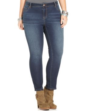 American Rag Plus Size Skinny Lena Wash Jeans, Only at Macy's
