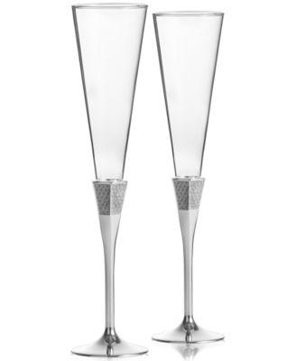 Waterford, Lismore Diamond Toasting Flute Pair